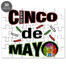 Cinco de Mayo Guitar Player w dog Puzzle