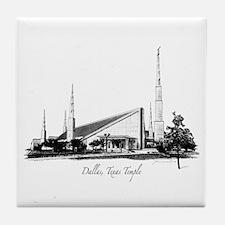 Dallas, Texas Temple Tile Coaster