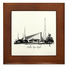 Dallas, Texas Temple Framed Tile