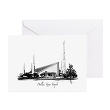 Dallas, Texas Temple Greeting Cards (Pk of 10)