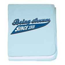 Awesome since 1935 baby blanket