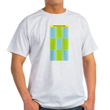 Easy to see! Multiplication table upside-down T-Sh