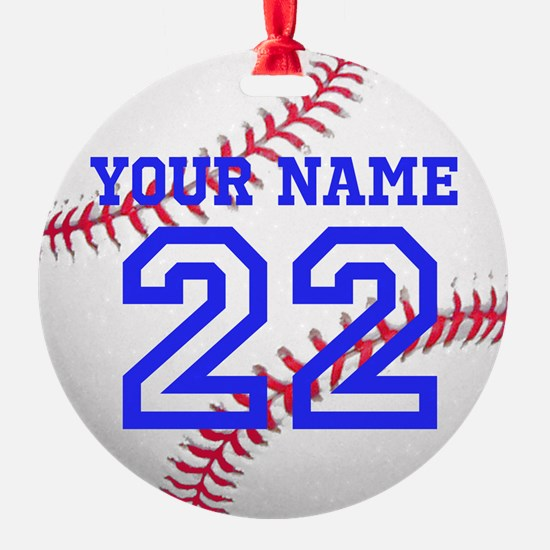 Personalize It, Baseball Christmas Ornament