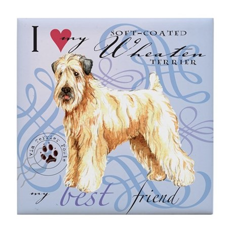 Wheaten Terrier Tile Coaster