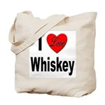 I Love Whiskey Tote Bag