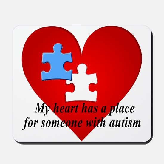 My heart has a place for someone with autism Mouse