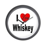 I Love Whiskey Wall Clock