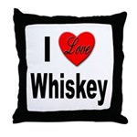 I Love Whiskey Throw Pillow