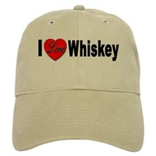 I Love Whiskey Baseball Cap