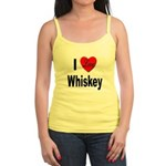 I Love Whiskey Jr. Spaghetti Tank