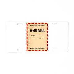 Confidential Aluminum License Plate