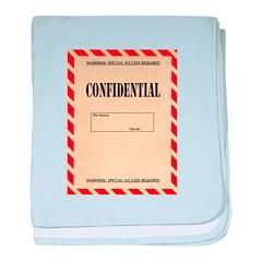 Confidential baby blanket