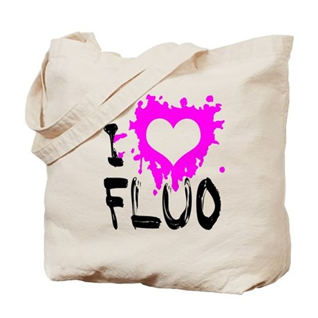 I Love Fluo Tote Bag