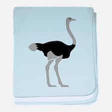 Ostrich baby blanket