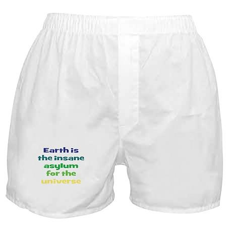 Earth Insane Asylum Boxer Shorts