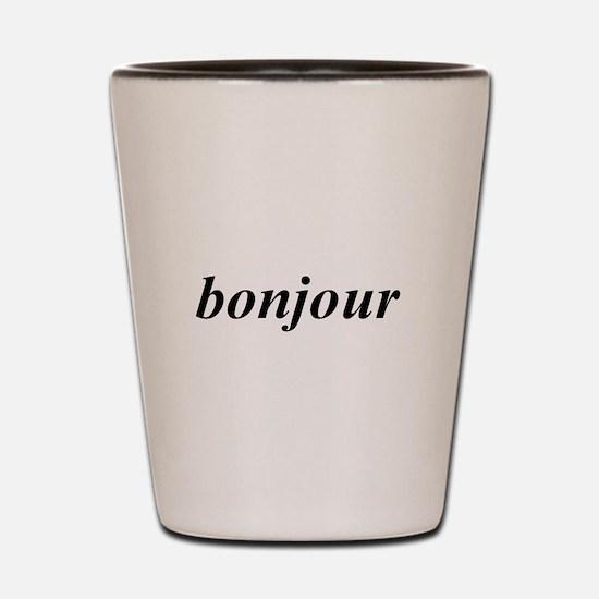 Bonjour Shot Glass