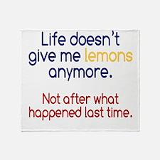 Life Doesn't Give Lemons Throw Blanket