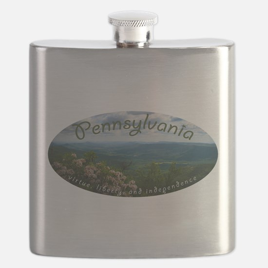 Pennsylvania virtue liberty independence Flask