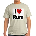 I Love Rum (Front) Ash Grey T-Shirt