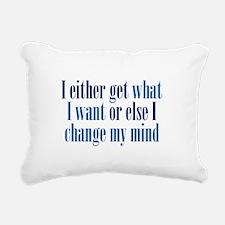 Change My Mind Rectangular Canvas Pillow