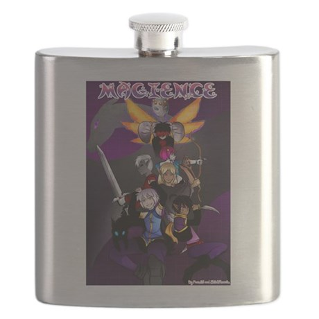 Book One Cover Flask