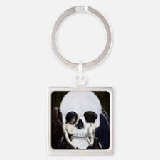 skull illusion square.jpg Keychains
