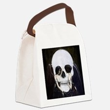 skull illusion square.jpg Canvas Lunch Bag