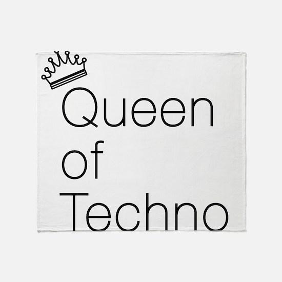 Queen of Techno Throw Blanket