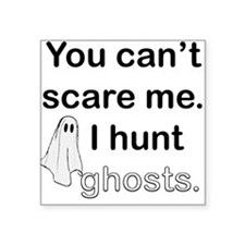 "I Hunt Ghosts Square Sticker 3"" x 3"""