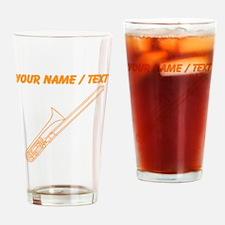 Custom Orange Trombone Drinking Glass