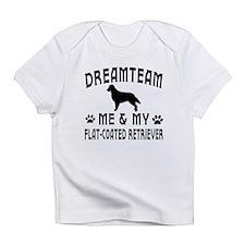 Flat-Coated Retriever Dog Designs Infant T-Shirt