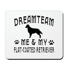 Flat-Coated Retriever Dog Designs Mousepad