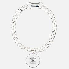 Flat-Coated Retriever Dog Designs Bracelet