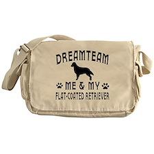 Flat-Coated Retriever Dog Designs Messenger Bag