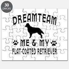 Flat-Coated Retriever Dog Designs Puzzle