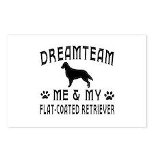 Flat-Coated Retriever Dog Designs Postcards (Packa