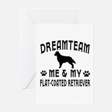 Flat-Coated Retriever Dog Designs Greeting Cards (