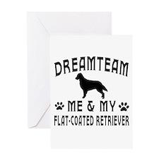 Flat-Coated Retriever Dog Designs Greeting Card