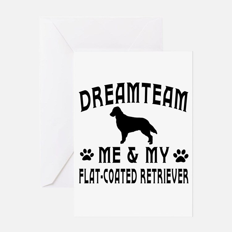 Flat-Coated Retriever Dog Designs Greeting Card