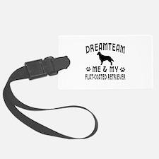 Flat-Coated Retriever Dog Designs Luggage Tag