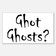 Ghot Ghosts? Sticker (Rectangle 50 pk)