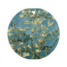 Van Gogh Blossoming Almond Tree Ornament (Round)