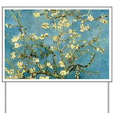 Van Gogh Blossoming Almond Tree Yard Sign