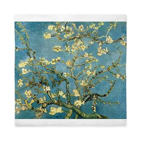 Van Gogh Blossoming Almond Tree Queen Duvet