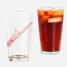 Red Trombone Drinking Glass