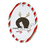 Cardigan Welsh Corgi Christmas Oval Ornament