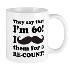 Funny Mustache 60th Birthday Mug