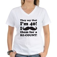 Funny Mustache 40th Birthday Shirt
