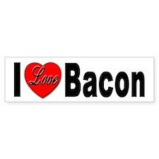 I Love Bacon Bumper Bumper Sticker