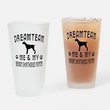German Shorthaired Pointer Dog Designs Drinking Gl